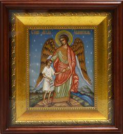 Рукописная икона Ангел Хранитель, ведущий за руку человека купить с доставкой