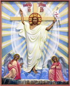 Резная икона Воскресение Христово купить с доставкой