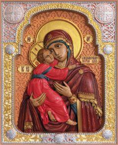 Резная Владимирская икона Богородицы купить с доставкой