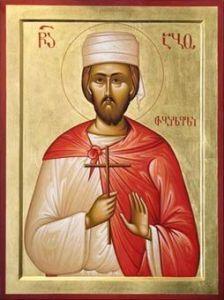 Рукописная икона Або Тбилисский купить с доставкой
