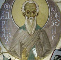 Рукописная икона Адриан Монзенский купить с доставкой