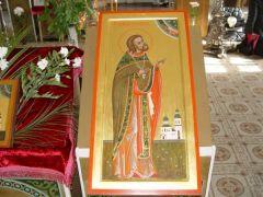 Рукописная икона Александр Вологодский купить с доставкой