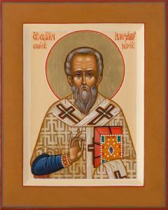 Рукописная икона Александр Иерусалимский купить с доставкой