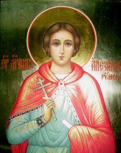 Рукописная икона Александр Римский купить с доставкой