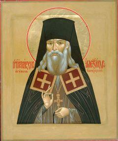 Рукописная икона Александр Санаксарский купить с доставкой