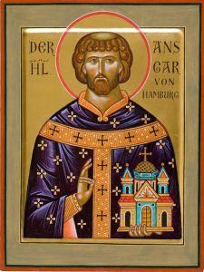 Рукописная икона Ансгар Гамбургский