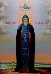 Рукописная икона Афанасий Сяндемский купить с доставкой