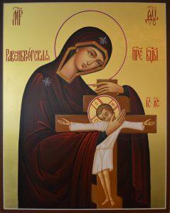 Рукописная Равенсбрюкская икона Божией Матери купить с доставкой