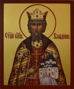 Рукописная икона Владимир Новгородский