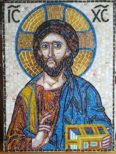 Икона из мозаики Спас Вседержитель купить с доставкой