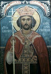 Рукописная икона Борис Болгарский купить с доставкой