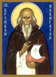 Рукописная икона Брендан