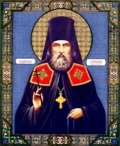 Рукописная икона Варлаам Белогорский купить с доставкой