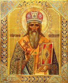 Рукописная икона Варсонофий Тверской Казанский