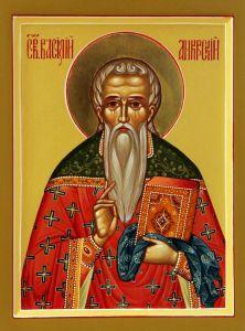 Рукописная икона Василий Анкирский купить с доставкой