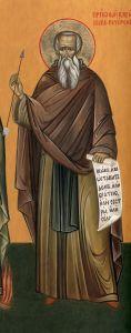 Рукописная икона Василий Печерский купить с доставкой
