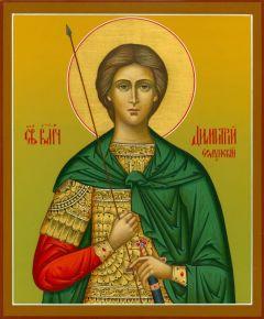 Рукописная икона Дмитрий (Димитрий) Солунский