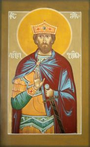 Рукописная икона Вахтанг