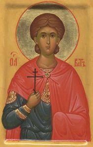 Рукописная икона Вит Сицилийский купить с доставкой