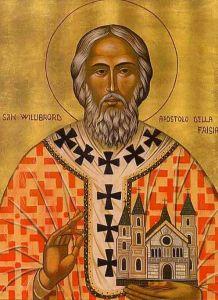 Рукописная икона Виллиброрд Утрехтский купить с доставкой