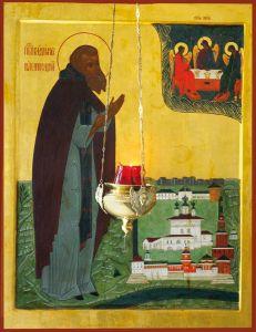 Рукописная икона Владимир Белопесоцкий купить с доставкой