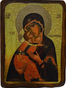 Икона под старину Владимирская