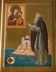 Рукописная икона Гавриил Святогорец