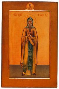 Рукописная икона Галактион Вологодский