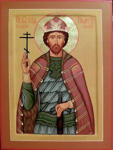 Рукописная икона Георгий Владимирский купить с доставкой