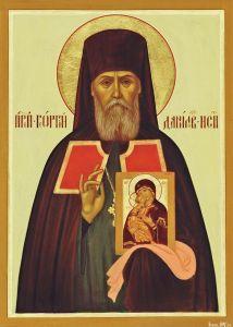 Рукописная икона Георгий Даниловский купить с доставкой