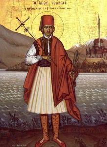 Рукописная икона Георгий Кратовский Софийский купить с доставкой