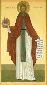 Рукописная икона Герман Столобенский купить с доставкой