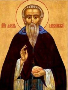 Рукописная икона Давид Гареджийский