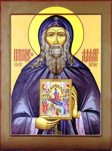 Рукописная икона Далмат Исетский купить с доставкой