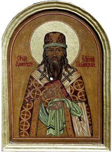Рукописная икона Дионисий Полоцкий