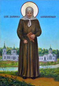 Рукописная икона Домника Алешковская
