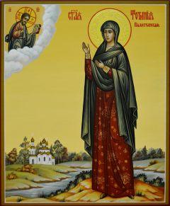 Рукописная икона Фотиния Палестинская