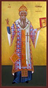 Рукописная икона Евлогий Александрийский