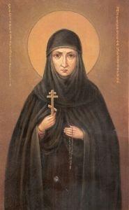 Рукописная икона Евфросиния Колюпановская купить с доставкой