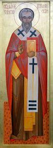 Рукописная икона Зинон Веронийский купить с доставкой