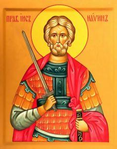 Рукописная икона Иисус Навин купить с доставкой