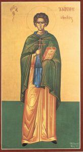 Рукописная икона Иоанн Кущник купить с доставкой