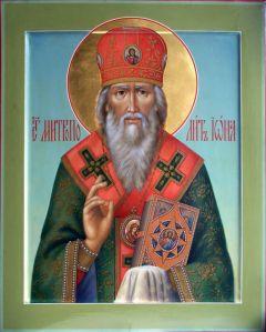 Рукописная икона Иона Московский купить с доставкой