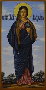Рукописная икона Мария Магдалина  купить с доставкой