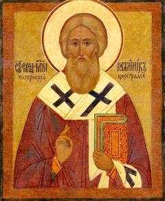 Рукописная икона Каллиник Константинопольский купить с доставкой
