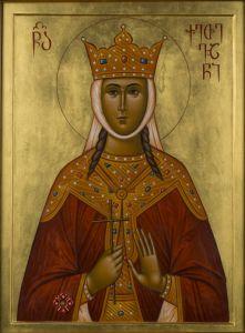 Рукописная икона Кетевана Кахетинская купить с доставкой