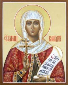 Рукописная икона Клавдия Коринфская Анкирская купить с доставкой