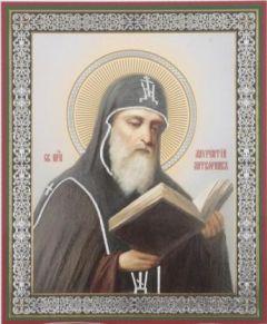 Рукописная икона Лаврентий Печерский Затворник купить с доставкой