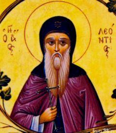 Рукописная икона Леонтий Прозорливый купить с доставкой