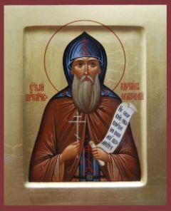 Рукописная икона Святой Адриан Ондрусовский купить с доставкой